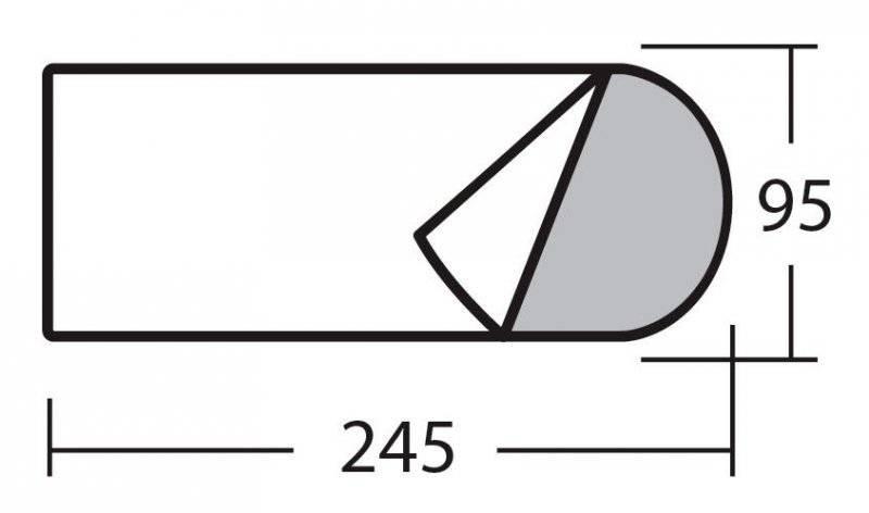 Спальный мешок одеяло с подголовником «Карелия 450»